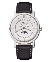 M&M Damen und Herrenuhr M11919-448 Moonphase
